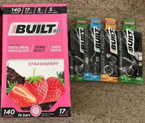 Built Bar Strawberry Chocolate NEW BOX 18 Bars Sealed Builtbar