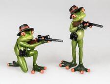 717757 Frosch Figur 2er Set  hellgrün 13+18cm aus Kunststein als Jäger