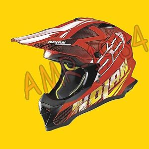 Helmet cross Enduro Nolan N53 Whoop LED Orange Color 50 SIZE S