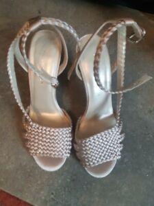 """Karen Millen Nude Strappy 4"""" Heels Open Sandals Size 4 New £145.00 Wedding"""