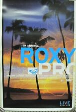 Roxy Pro Surf 2005 Hawaii sunset promotional Big Poster New Old Stock