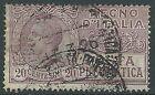 1925 REGNO USATO POSTA PNEUMATICA 20 CENT - R3-9