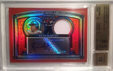 TRUE 1/1 BGS 9.5 2005 Bowman Sterling SUPERFRACTOR Russell Martin PATCH AUTO RC