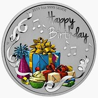 HAPPY BIRTHDAY 1oz Silver Coin Tuvalu 2019 by Perth Mint