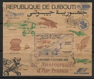 Stamps-Djibouti. 1983. Aire Francia - Concorde Miniatura Hoja. Sg: MS889. Fu