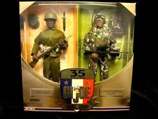 AFRICAN AMERICAN GI JOE LAND WARRIOR SET 35th Anniversary Then & Now NRFB Black