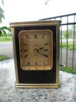 Vintage LINDEN Quartz Battery Operated Mantel Shelf Desk Clock Gold Black