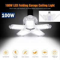100W LED Garage Light Bulb Deformable Ceiling Fixture Light Workshop Lamp NEW