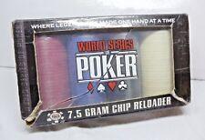 Poker Chips 7.5 Gram Chips x 100 Sealed World Series of Poker in 4 colours