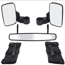 Fit Polaris RZR XP1000 900 Ranger Roll Cage Side Wide Rear View Mirrors+Grip Kit