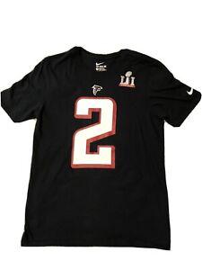 The Nike Tee Adult Medium NFL Atlanta Falcons Super Bowl LI Matt Ryan #32 Black