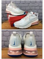 NIKE MENS UK 11 EU 46 AIR MAX 270 REACT PHANTOM WHITE CORAL TRAINERS RRP £140