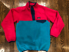 Patagonia Synchilla Girls Large Aqua Blue Pink Euc So cute