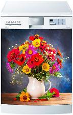 Sticker lave vaisselle déco cuisine électroménager pot de fleur réf 676 60x60cm