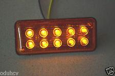 10 piezas 12v LED Lateral Marcador Naranja Ámbar Luces Para Iveco Man Daf Volvo