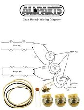 NEW Jazz Bass Pots Wire & Wiring Kit for Fender Jazz Bass Guitar Parts + Diagram