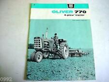 Oliver 770 Tractor Sales Brochure                                 b3