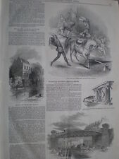 Cirque National at Drury Lane London and Commercial Road bridge 1849 old prints