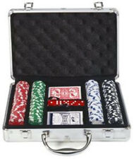 200 pc. Poker Chip Set Playing Cards Dice DLX Casino Night Party Supplies Gift