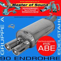 MASTER OF SOUND EDELSTAHL SPORTAUSPUFF AUDI A4 QUATTRO LIMOUSINE+AVANT B5
