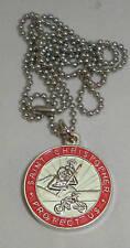 St Christopher Rides a Honda Bikers Saint Medal Necklace Honda Red