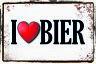 I Love Cerveza Letrero Letrero de Metal Arqueado Metal Tin Sign 20 X 30cm CC1062