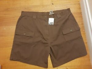 NEW, MILLERS, Size 22, Drill, Cargo, Cotton Shorts, Brown, BNWT