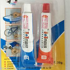 New Adhesive Epoxy Immediate Glue Component Resin A +B Glue Sticky Tool 2Pcs/Set