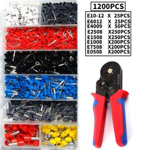 Crimping Tool Set Crimp Wire Plier Tools + 1200Pcs Wire Ferrule Terminals Kit
