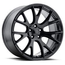 4x Staggered 20x9.5 20x10.5 SRT Hellcat Rep 5x115 Gloss Black Wheels