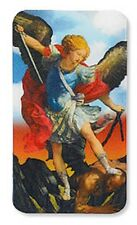 ST. MICHAEL BLESSED CHARM & 3-D HOLOGRAM LENTICULAR PRAYER CARD BLESSED SAINT