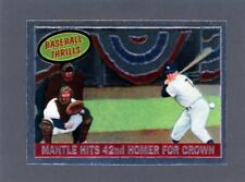1997 Micky Mantle Finest Commemorative Card #26 Mantle Hits 42nd HR Crown   A120