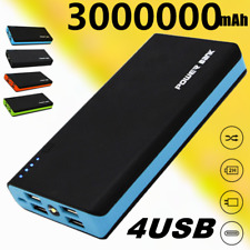 Power Bank 4 USB LED Battery Charger for Phone Case Portable Travel 3000000mAh