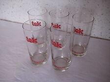 Lot de 5 verres publicitaire à sirops Tek Lelay Lagoute