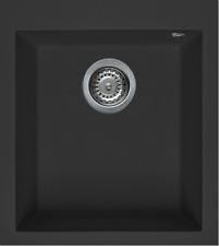 Lavello Elleci Incasso Cucina Quadra 1 Vasca LGQ10040NA 41x50 Nero Full Black