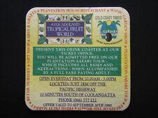 AVOCADOLAND TROPICAL FRUIT WORLD MAGIC GARDEN SHOW GIFT SHOP 066 777222 COASTER