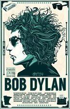 Incorniciato VINTAGE POSTER CONCERTO MUSICA – Bob Dylan 1966 (REPLICA opera d'arte delle foto)