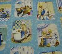 Bath Time blocks cute kids Elizabeth Studio fabric