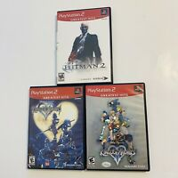 PS2 Game Lot Disney Kingdom Hearts 1 & 2 Hitman 2 PlayStation 2 Complete Tested