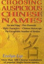Choosing Auspicious Chinese Names-ExLibrary