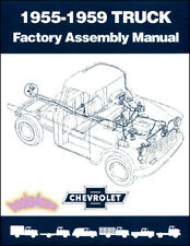 Chevrolet Truck Shop Assembly Manual Chevy Book Gmc Factory Service Gm 1955-1959 (Fits: Truck)