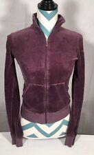 Juicy Couture Muted Purple Velour Zip Collar Sweatshirt M EUC