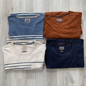 Bundle 4 x FAT FACE Men's Sweatshirt Jumpers Size XXL Rust Navy White Stripe