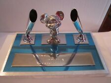 MICKEY MOUSE PEN DESK SET - VINTAGE IN THE BOX - SEE PICS INSCRIBED MANUEL - QQ