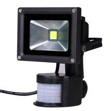 Cepillado 10W LED Floodlight PIR Sensor Motion Garden Exterior cálido blanco YB