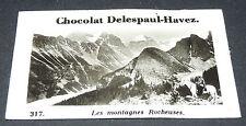 PHOTO CHOCOLAT DELESPAUL-HAVEZ 1950 CANADA MONTAGNES ROCHEUSES