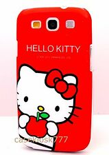 for Samsung galaxy s3 hard case cover cute kitten kitty red / hot pink i9300