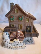 O'Well Water Wheel Mill Heartland Valley Lighted Christmas Village Building