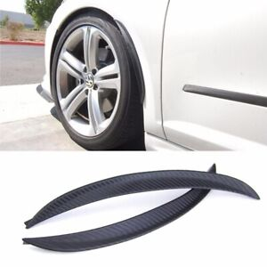 """1 Pair 10"""" Carbon Texture Diffuser Fender Flares Lip For Ford Wheel Wall Panel"""