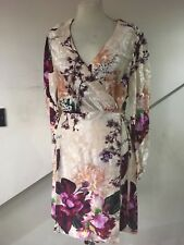 size 16 stunning silk look wrap dress from next brand new oriental